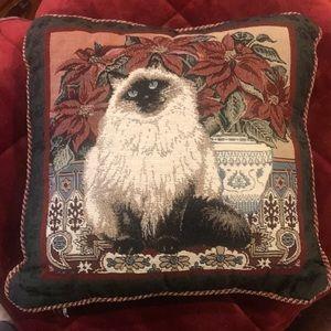 Persian Cat Christmas Pillow
